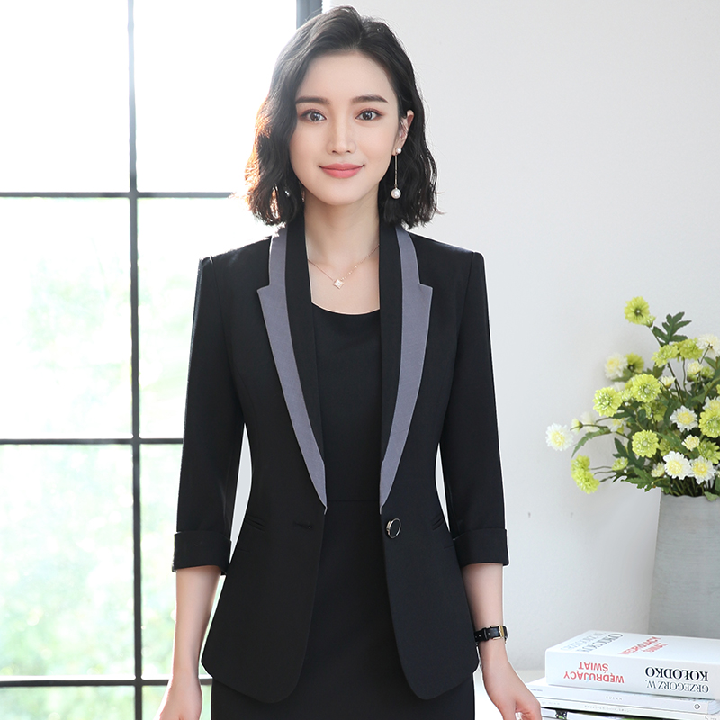 Professional suit skirt spring and summer fashion celebrity temperament small fragrance work suit beauty salon jewelry shop overalls