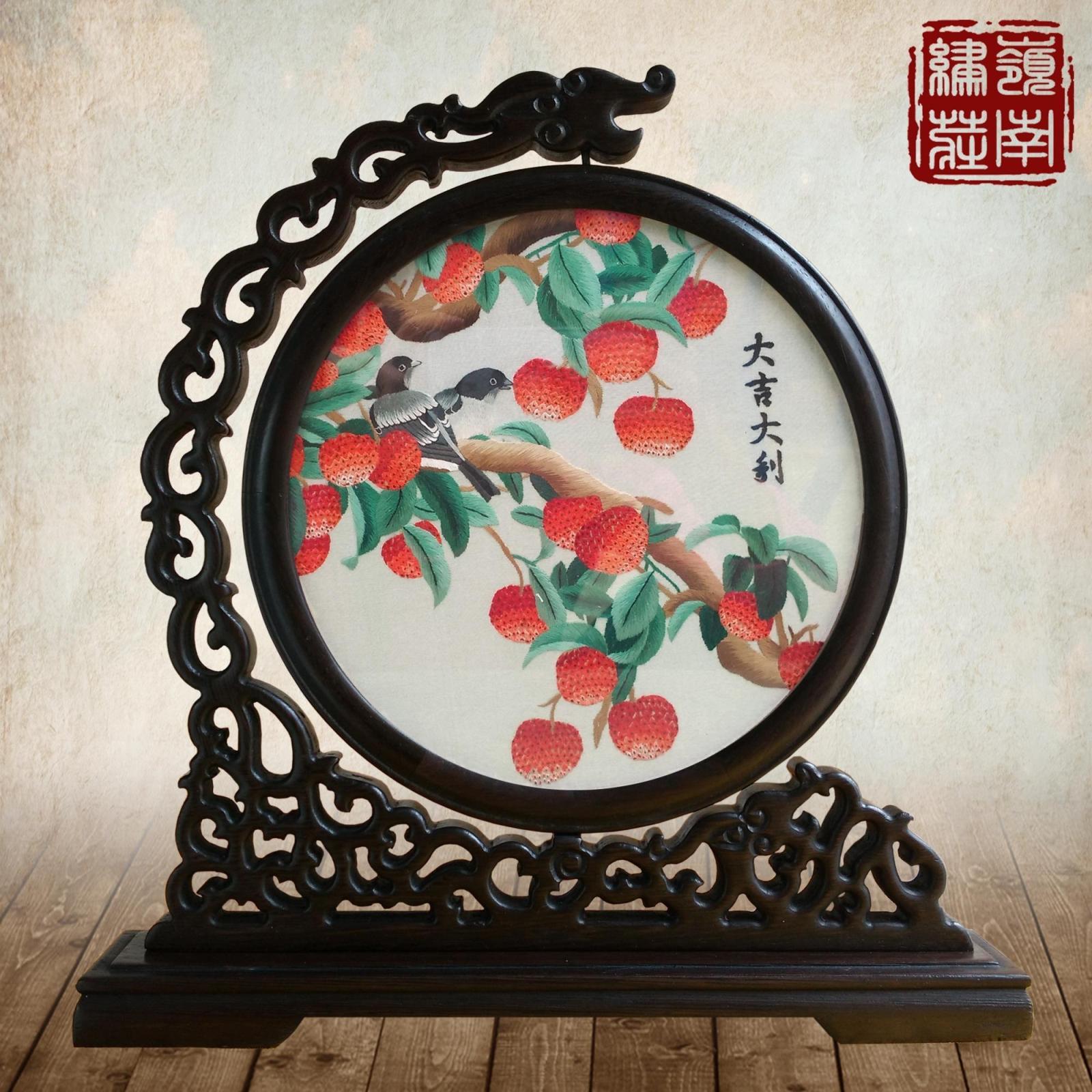 Широкий вышивать провинция гуандун вышивать чистый праздник середины осени подарок ручной работы вышивка ремесла товары поверхность вышивать древесины домой украшение вводить партнер подарок