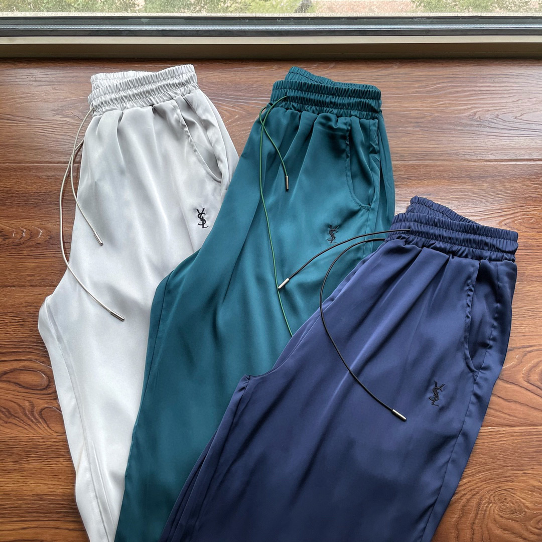 Thin as cicada wings! Delicate skin! Mens and womens loose casual pants with new silk fabric in 2021 summer
