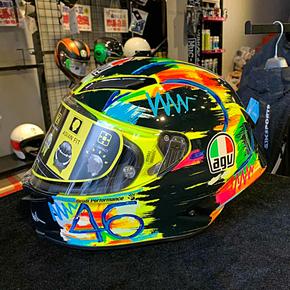 正品意大利AGV碳纤维头盔全盔 摩托车头盔赛车头盔PISTA GP GPR