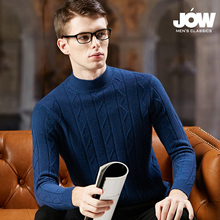 Cashmere sweater men's half-high collar thick pure cashmere bottoming shirt 2018 winter new youth warm bottoming sweater