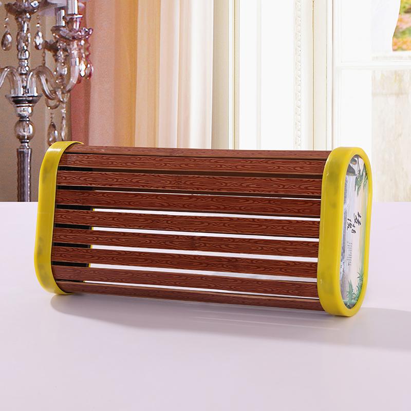 镂空黄边空心枕夏季凉竹枕头保健凉席枕头 汗蒸家居枕 单人空心枕