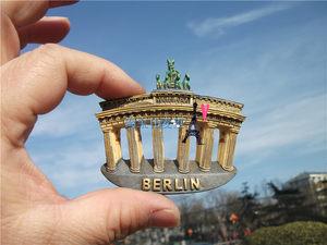 旅游纪念冰箱贴 德国 柏林 镜中的柏林的象征勃兰登堡门 6件包邮