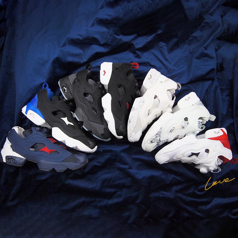 黑白经典reebok pump fury复古鞋
