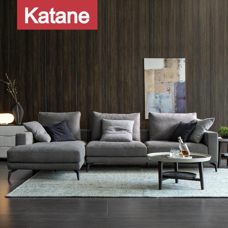 卡塔尼北欧轻奢高脚羽绒布艺沙发组合现代简约客厅小户型整装拆洗