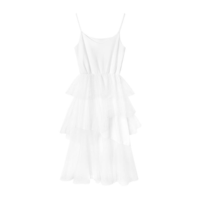 夏装2019款女白色网纱吊带裙 很仙的法国小众连衣裙仙女超仙甜美