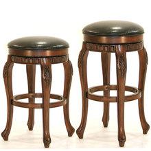 欧式吧台凳高凳子家用真皮旋转美式吧台椅吧凳实木高脚凳吧椅复古