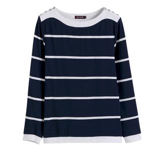 純棉打底衫女秋冬上衣媽媽裝2020新款秋裝中老年條紋內搭長袖t恤