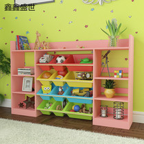 Multifunctional childrens toy storage rack toy finishing Rack Kindergarten toy cabinet storage rack Baby Bookshelf