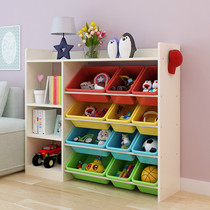Childrens Bookshelf toy storage rack Finishing rack toy storage Cabinet kindergarten locker oversized capacity