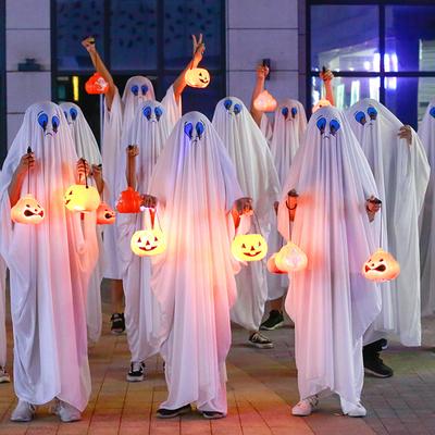 万圣节儿童服装男童女童恐怖表演服饰道具幽灵斗篷衣服白色鬼衣