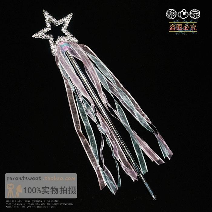 幼儿园儿童节表演道具 塑料星星丝带魔法棒仙女棒 庆生派对用品