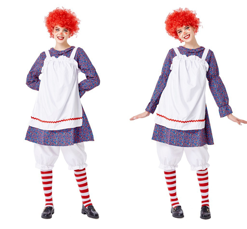 Halloween party costume masquerade ball role play costume Circus Clown Costume Toy Story Costume