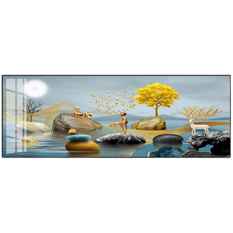 客厅装饰画沙发卧室麋鹿办公室画好用吗