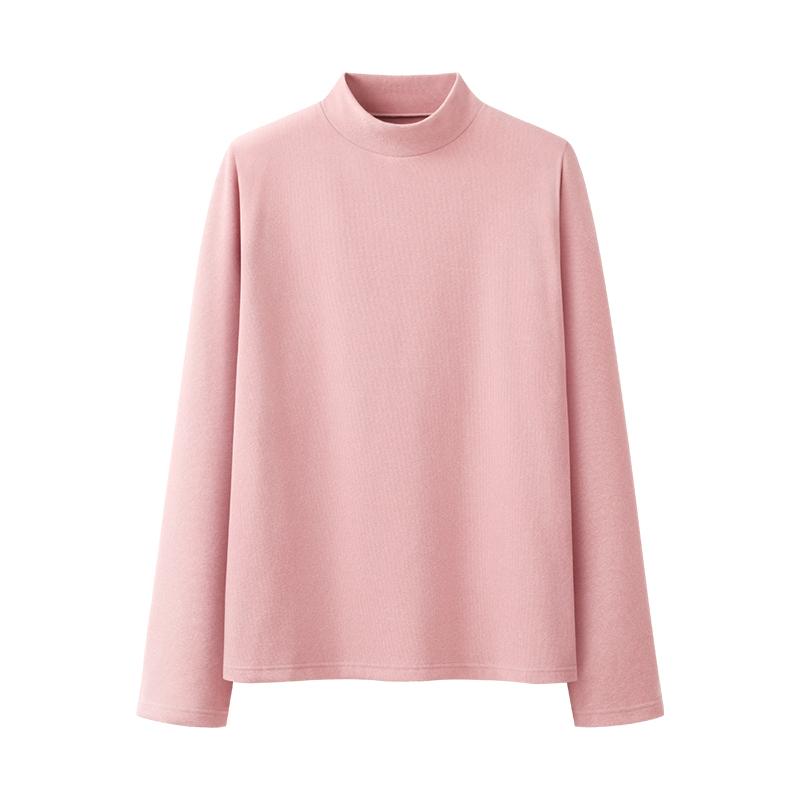 艾米恋双面加暖绒德秋冬宽松打底衫使用评测分享