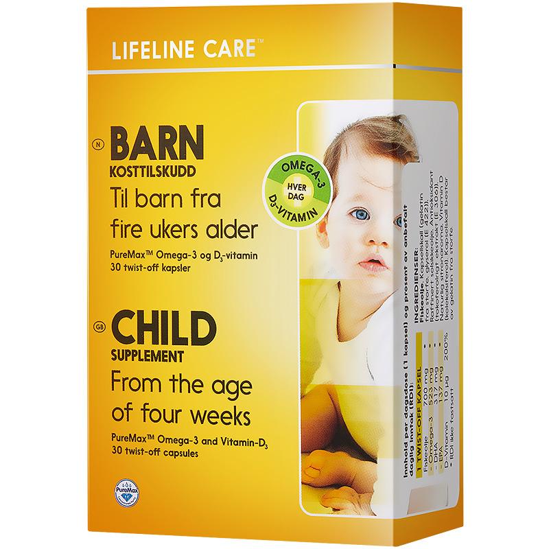 Lifeline Care 挪威小鱼dha婴幼儿鱼油胶囊omega3儿童维生素d3