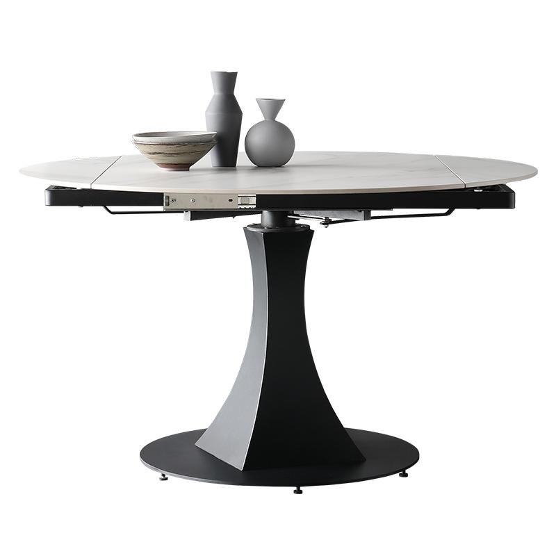 意式进口岩板方圆两用旋转伸缩圆桌质量怎么样