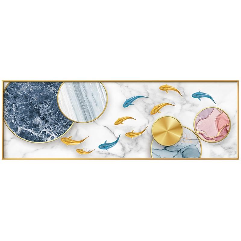 九鱼聚财图卧室床头北欧客厅装饰画质量好不好