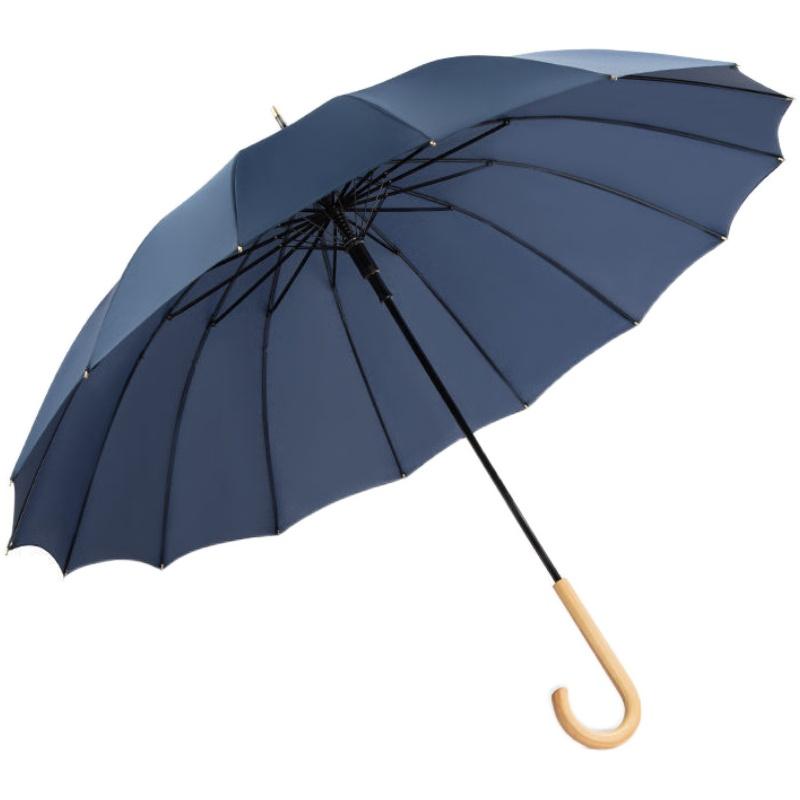 24骨自动长柄大号男士加大风直杆伞