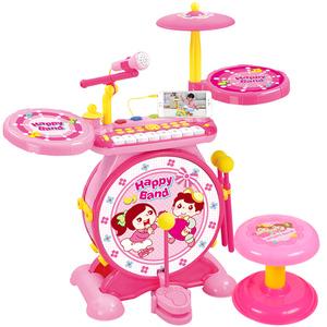 宝丽玩具架子鼓初学者宝宝电子琴