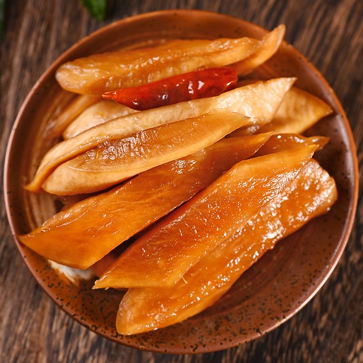 酱萝卜萝卜干 萝卜皮即食酱菜萝卜条糖醋腌萝卜小吃200g*3罐包邮