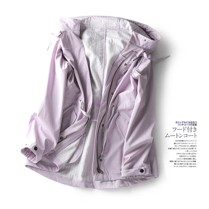 贝丽花园 纠结,选哪个颜色?新型科技面料 防风防水冲锋衣风衣W