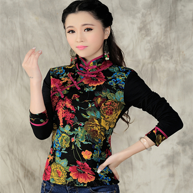 2020 spring and autumn winter new top ethnic style cotton hemp long short sleeve womens wear bottom coat Tang style big size fashion