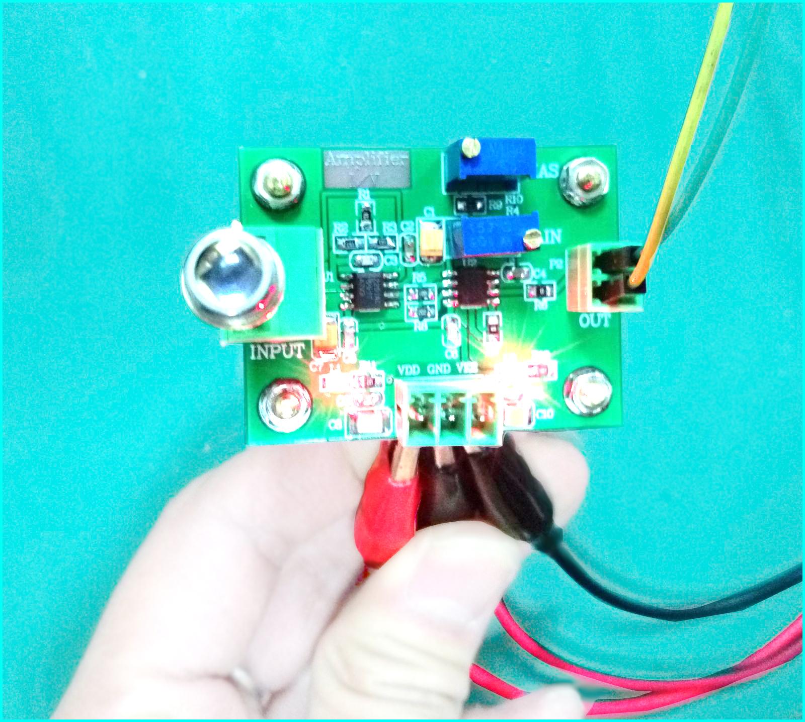 IV转换信号采集前端模块 光电二极管放大器 光电流转电压
