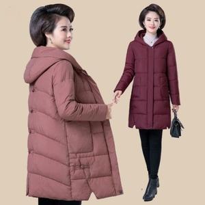 新款2019中年女裝冬裝棉衣40歲50媽媽裝羽絨棉服冬季外套女士棉襖