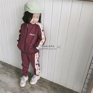 新款春秋面超运动套装幼儿园服男女