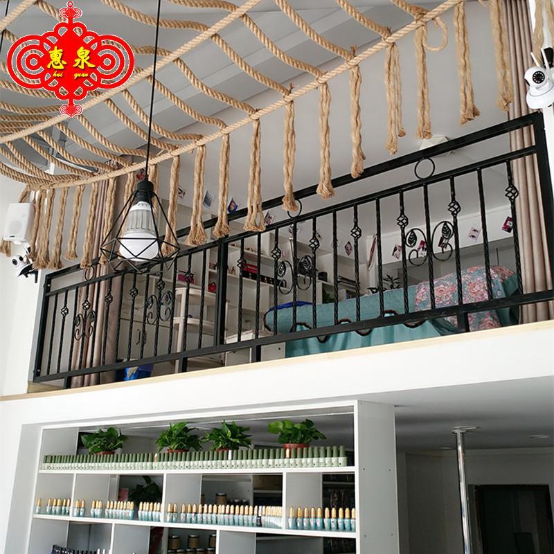 铁艺阳台护栏围栏飘窗栏杆扶手装饰北欧室内阁楼隔断金色楼梯扶手