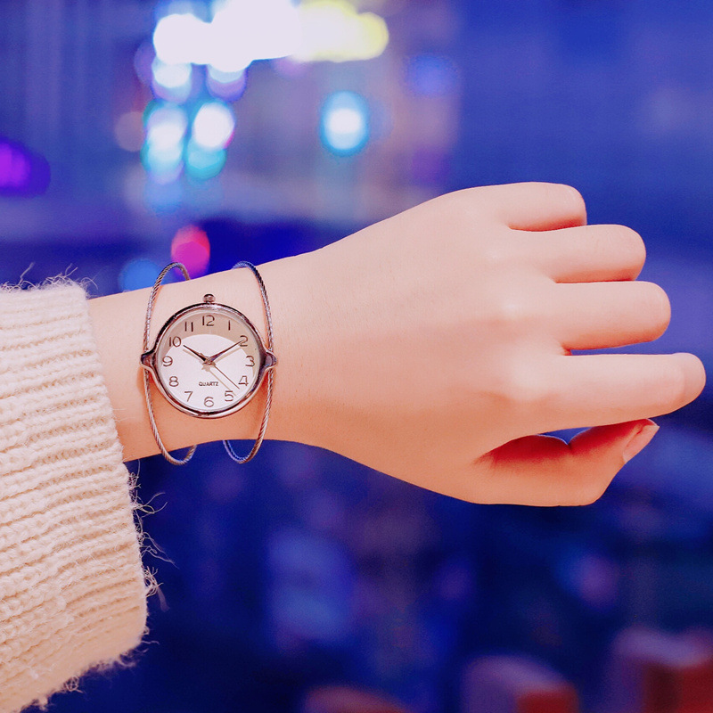Watch Girls Students bracelet style Korean version simple personality fashion casual atmosphere trend ulzzang small fresh