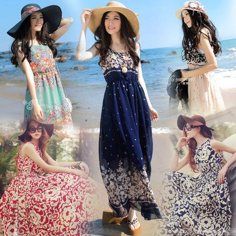 海南三亚海边度假沙滩裙泰国旅游五一出游衣服女装海滩裙海岛裙仙