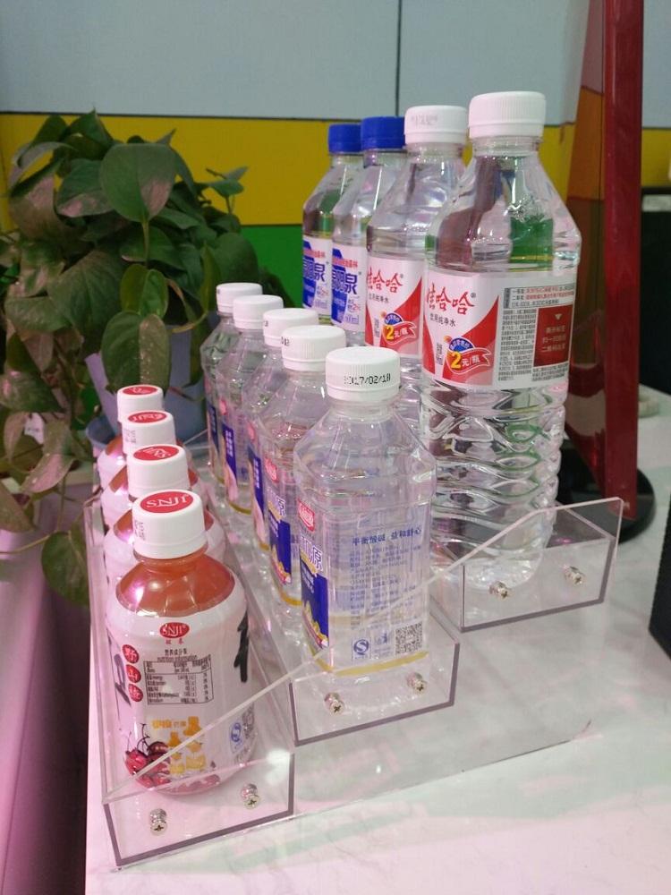 矿泉水展架桌上放的饮料架牛奶展示架收银台小店铺超市透明小货架