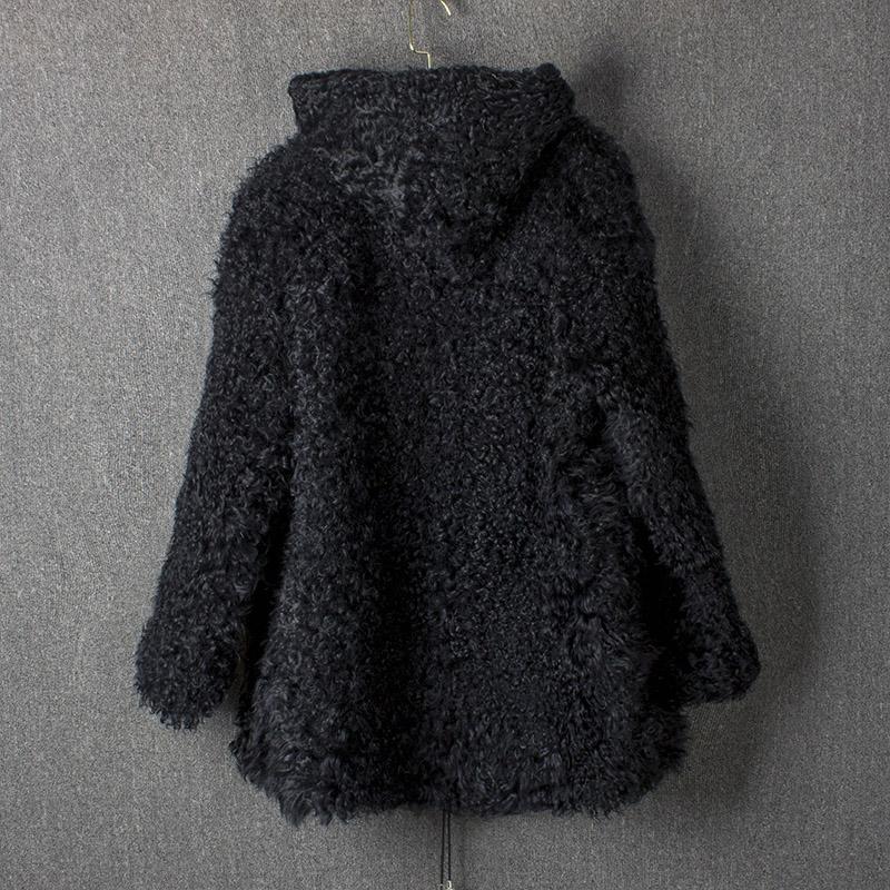 定制羊羔毛套头外套 皮姐保证羊羔毛外套品质 只用一流原料