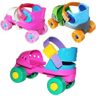 溜冰鞋儿童双排轮旱冰鞋宝宝初学者四轮滑冰鞋轮滑鞋2-3-4-5-6岁