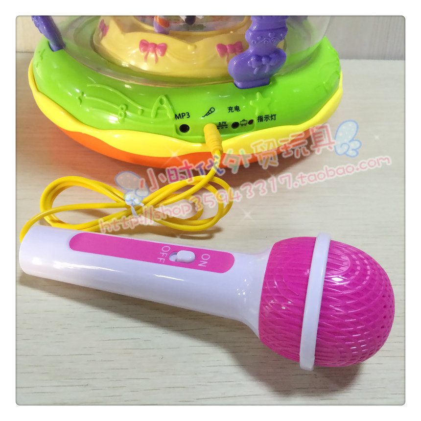 Xiecheng childrens music clapping drum carousel clapping drum accessories charging cable connecting cable audio cable microphone