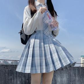 川岛田家JK制服新品 月华仙子 JK格裙制服裙正版褶裙 校服套装