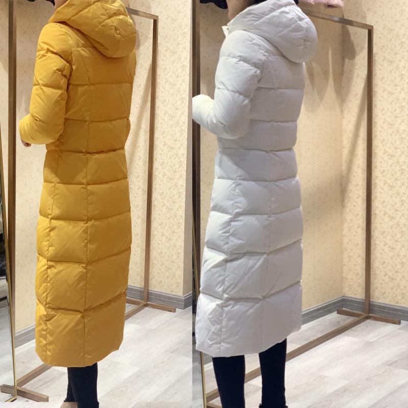 超厚加长款羽绒服女长过膝修身显瘦加厚超长特厚保暖大衣防寒服