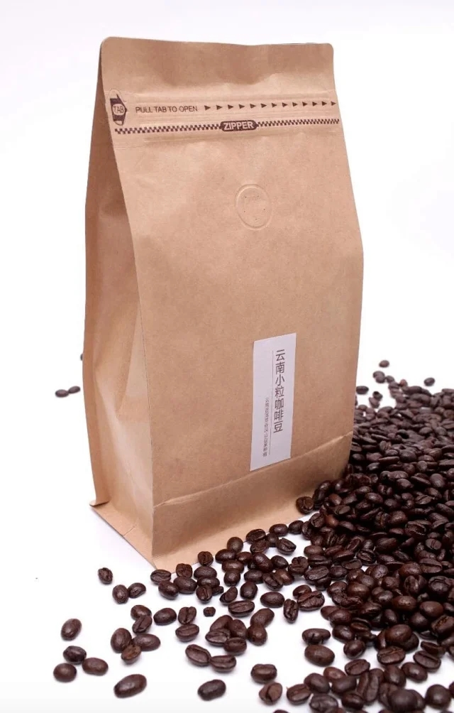 Fresh roasted single product coffee from Yunnan coffee beans