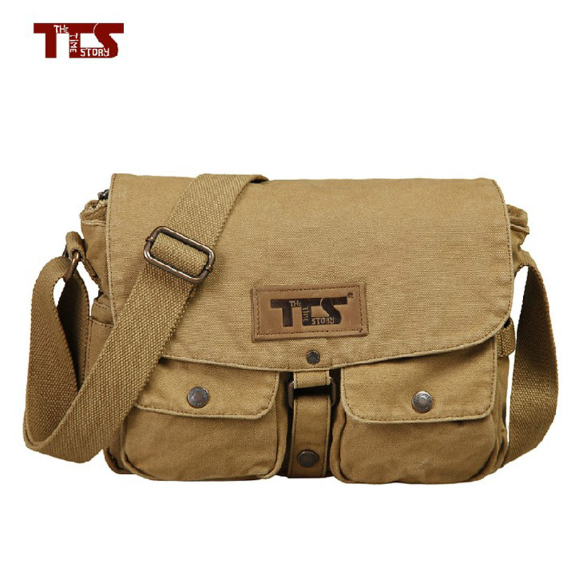 Foreign trade men and women leisure foreign trade cotton canvas bag Single Shoulder Bag Messenger Bag simple computer schoolbag