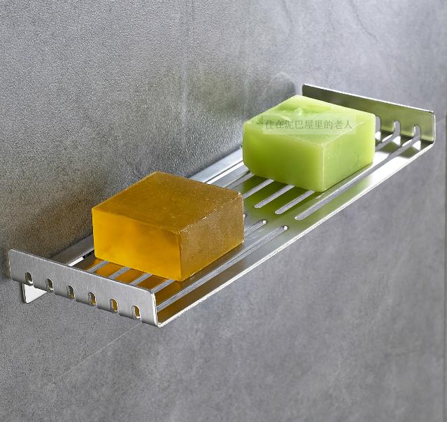 304 нержавеющей стали ванная комната стеллажи мыло коробка мыло полка освобождать пробить мыло чистый туалетное мыло полка мыло синий