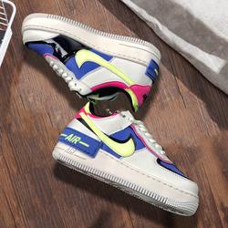 耐克AJ1女鞋板鞋女官网旗舰正品AF1空军一号马卡龙休闲鞋 CJ1641