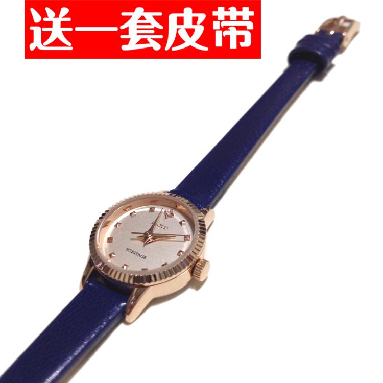 正品LLOYD手表 女腕表蓝色真皮表带 小表盘女表新款 韩国原装现货