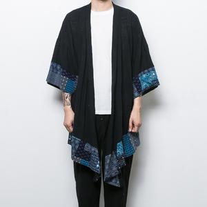 中國風男裝復古棉麻風衣男青年中長款和服男漢服男寬松開衫外套