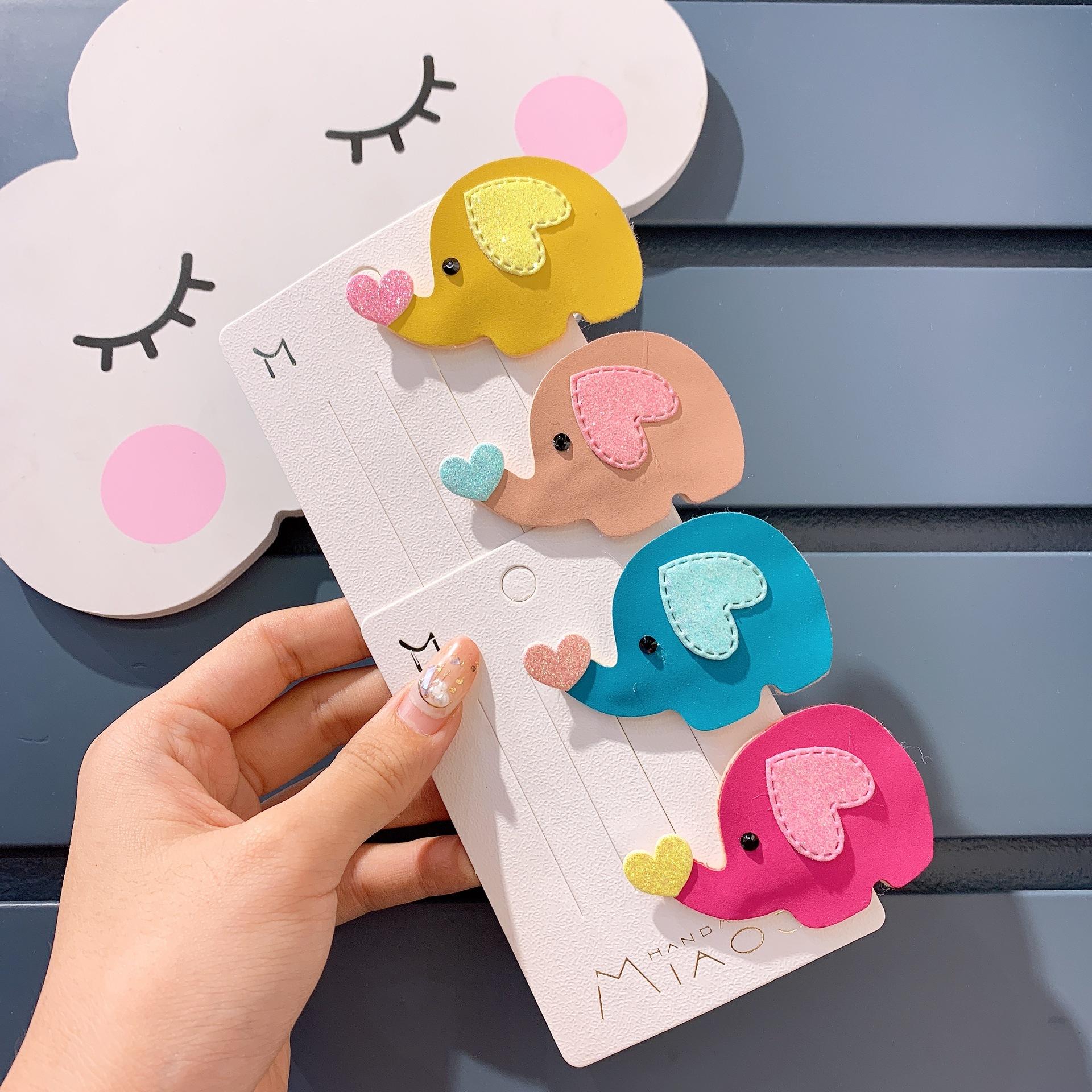 新款儿童拼爱卡通の小象造形bb夹(用1元券)