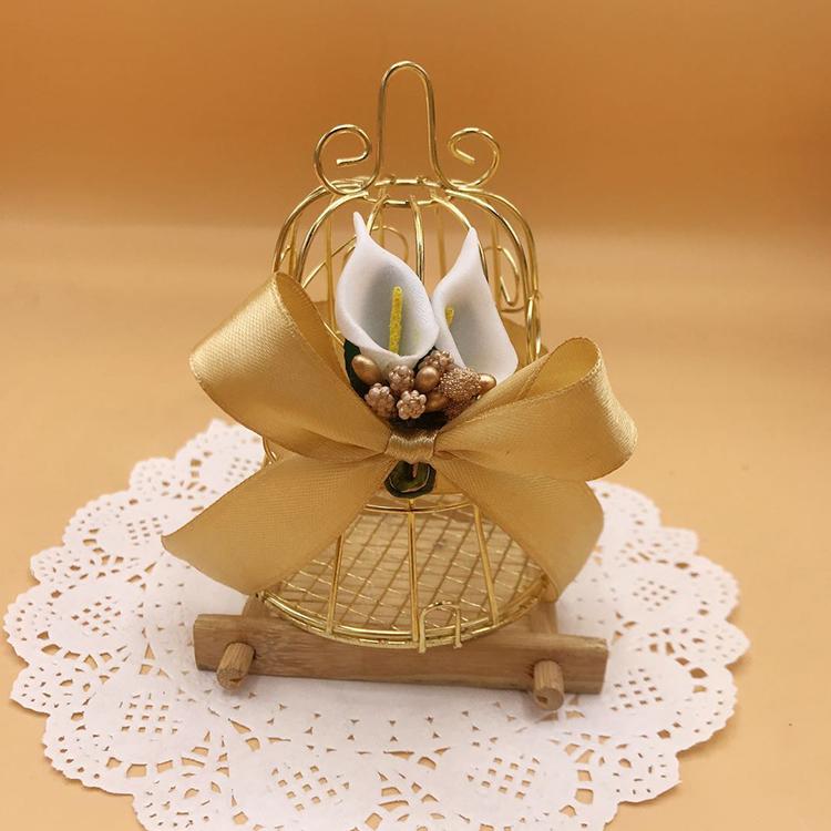 聚喜来创意巧克力喜糖包装铁艺铃铛鸟笼马口铁喜糖盒个性工艺品盒(非品牌)
