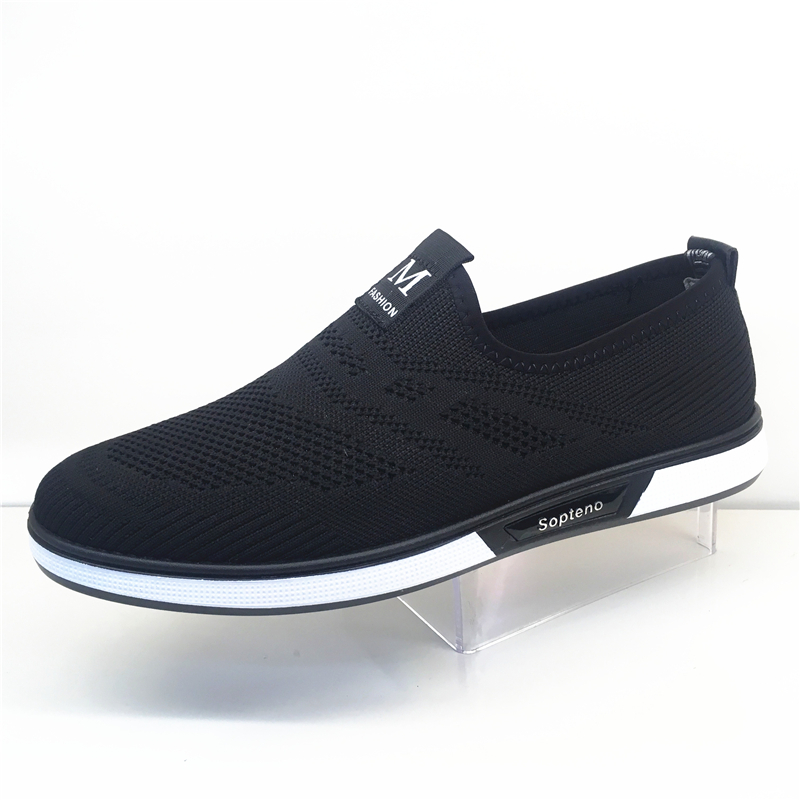 Mens casual shoes summer breathable mens shoes low top board shoes flying mesh face mens shoes deodorant sleeve shoes mens shoes