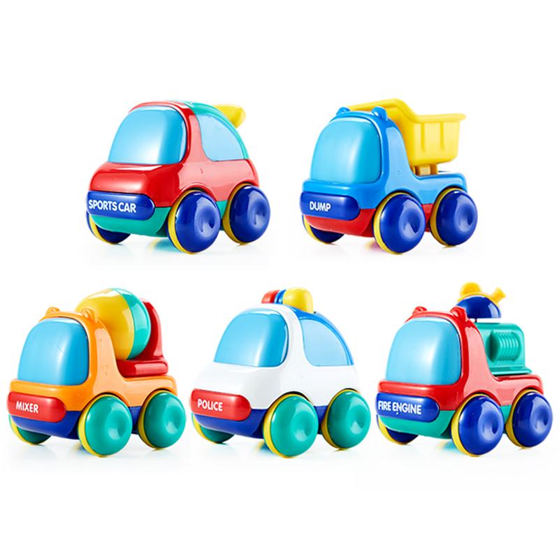 皇室迷你汽車卡車水泥車警車消防車 兒童玩具滑行車慣性車