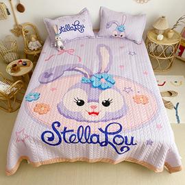 出口韩国卡通四季床盖三件套亲肤棉春夏榻榻米可水洗绗缝夹棉床单图片